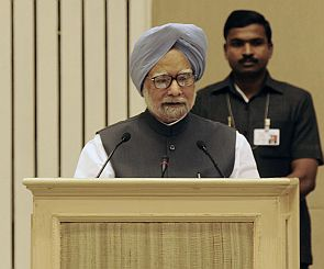 Protestor briefly disrupts PM's speech at Vigyan Bhawan