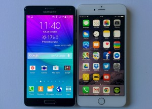 Galaxy Note 6 Vs Iphone 6 Plus: Clash Of The Titans